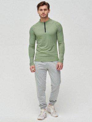 Трикотажные брюки мужские серого цвета 2270Sr