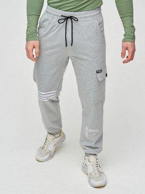 Трикотажные брюки мужские серого цвета 2269Sr