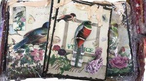 Подарочный пакет Птицы и цветы микс