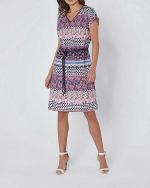 Платье, сине-розовое