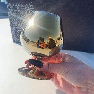 """Набор бокалов Glasstar """"Эдем"""" Радуга чёрное золото / 6 шт. 250 мл"""