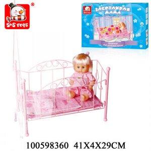 Кровать для куклы 100598360 EJ7278R SR81208-21