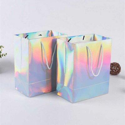 Упаковка подарков - ленты, коробки, бумага — Пакеты, сумки - Сумки голографические — Праздники
