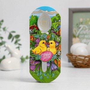 Ложка с гравировкой «Цыплята в цветах»