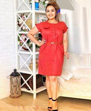 Платье Ткань лён Ремешок в комплекте