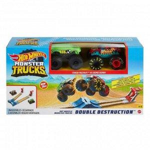 Игровой набор Mattel Hot Wheels Монстр трак Автотрек Двойное уничтожение3