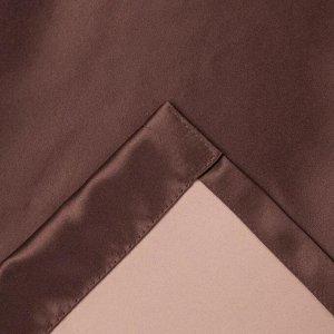 Штора портьерная «Этель» 130?300 см. двусторонний блэкаут. цвет Шоколад. пл. 240 г/м?. 100% п/э