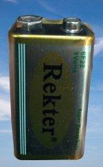 Батарейка Rekter 9V (Крона)