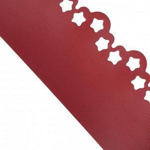 Лента бордюрная, 0.2 ? 9 м, толщина 1.2 мм, пластиковая, фигурная, красная