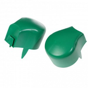 Ограждение декоративное, 12 ? 120 см, 8 секций, пластик, зелёное, «Камень бордюрный»