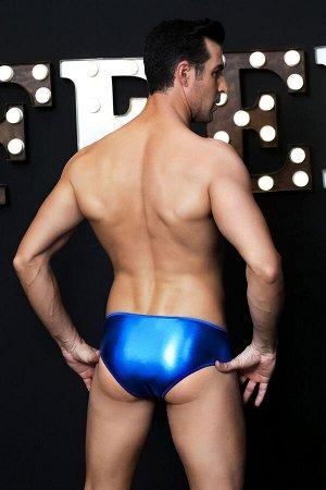Танга wetlook Candy Boy Martin на кнопках, синие, OS