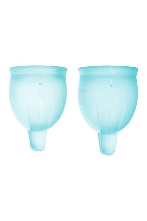 Менструальная чаша Satisfyer Feel Confident, 2 шт в наборе, Силикон, Синий
