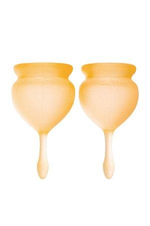 Менструальная чаша Satisfyer Feel Good, 2 шт в наборе, Силикон, Оранжевый