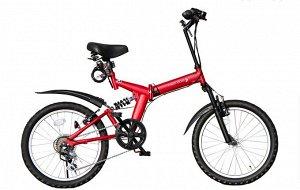 Горный складной велосипед фирмы THREE STONE AJ-01 MR (Красный матовый)