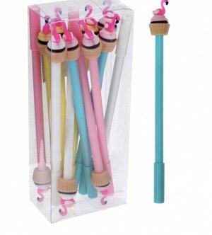 Ручка  МИКС «Фламинго на кексе»