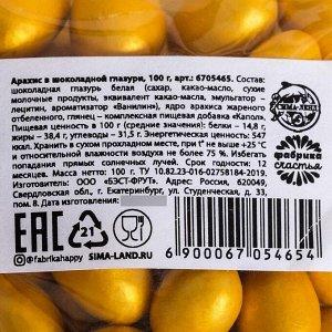 Арахис в шоколадной глазури, 100 гр.