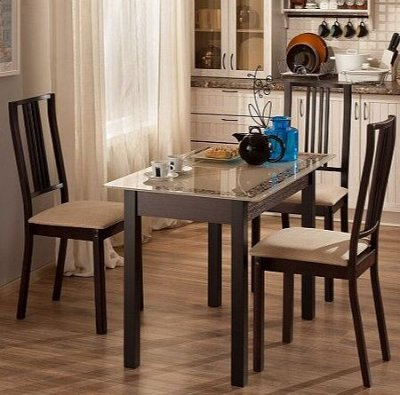 По-деревенски уютная мебель в комнату подростка — Столы обеденные — Стулья и столы