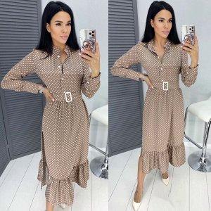 Платье Ткань софт Ремень в комплекте