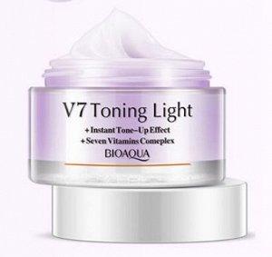 BIOAQUA V7 Увлажняющий крем для лица с тонирующим эффектом (Фиолетовый), 50 мл,12 шт/уп