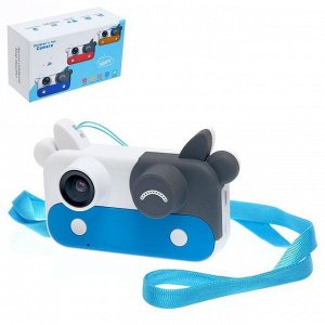 Детский фотоаппарат «Коровка», цвет синий