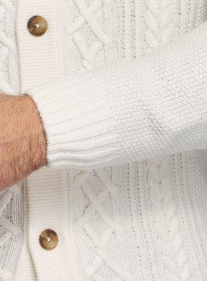 Кардиган фактурной вязки с пуговицами