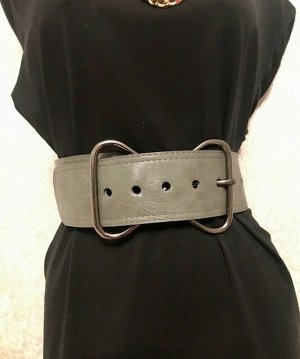 Ремень для пуховика (шубы) серый