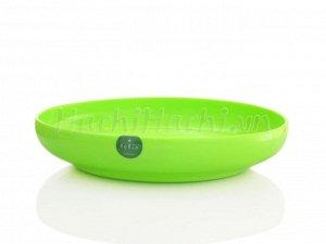 Тарелка фолио зеленая круглая 20см