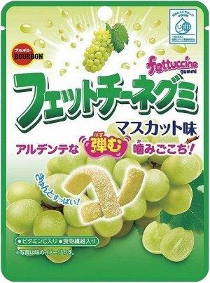 """Жевательные конфеты Бурбон  """"FETTUCCINE GUMMI"""" со вкусом мускат и с содержанием витамина С, 50 грамм"""