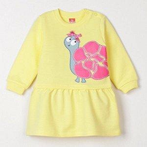 Платье Платье для девочки отрезное ниже линии талии. Рукава длинные, втачные, с манжетами по низу. Горловина круглая, в плечевом шве обработана застежка на кнопки. Юбка со сборкой по шву притачивания.