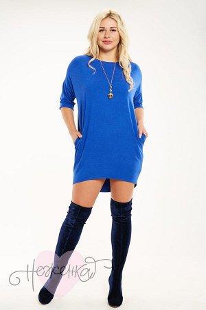 Платье П 341 (васильковый)