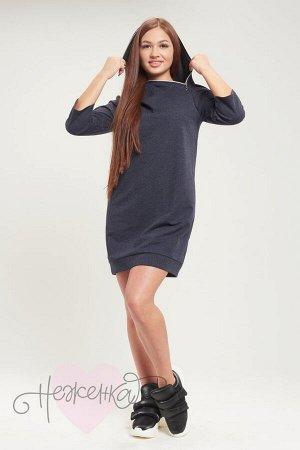 Платье П 761 (меланж синий)
