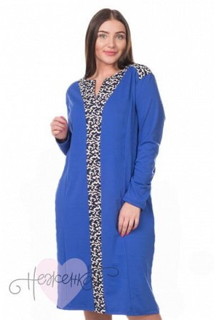 Платье П 694 (темно-синий+вензеля)