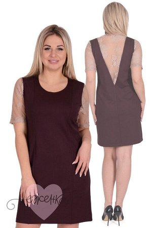 Платье П 745 (шоколадный)