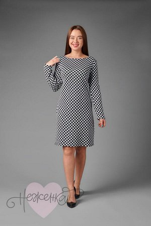 Платье П 485 (принт шашечки)