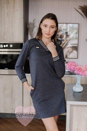 Платье П 781 (антрацит)