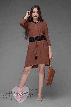 Платье П 642 (шоколадный)