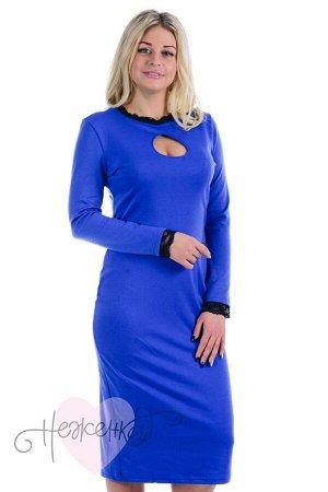 Платье П 677 (васильковый)