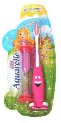 Зубная щетка Aquarelle Kids для детей старше 3 лет с часами и на присоске
