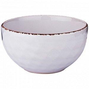 """Салатник диаметр=14 см объем 620 мл коллекция """"мираж"""" цвет:белое облако"""