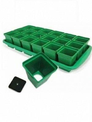Рассадный Набор 18 стаканов Урожай Стандарт 0,2л 47*23,5*9см