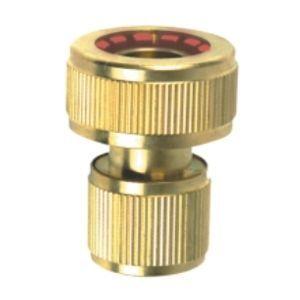 Коннектор латунь д/шланга 3/4 с автост.LYM 5820C