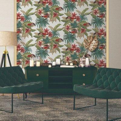 Дизайнерские обои из салонов города 💥  — Обои с имитацией вышивки Grace  Alessandro Alliori 1,06х10м — Отделка для стен и потолков