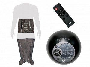 """Комплект """"Ноги XL + пояс-шорты"""" лимфодренажного массажера для прессотерапии Gapo Alance Choco Brown"""