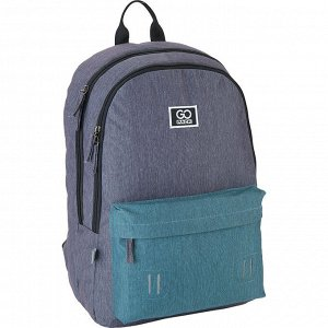 Рюкзак GoPack Сity 140-1 серый, бирюзовый