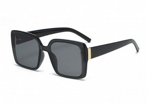 Женские поляризованные солнцезащитные очки в защитном чехле, черная оправа,  черные дужки