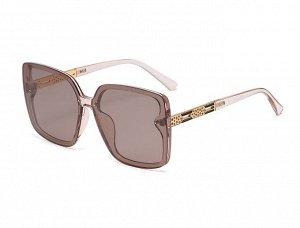 Женские солнцезащитные поляризованные очки в защитном чехле, прозрачная оправа, дужки с декоративным элементом