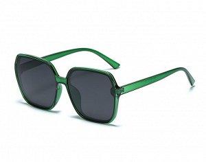 Женские солнцезащитные очки с поляризацией в защитном чехле, прозрачные зеленые оправа и дужги