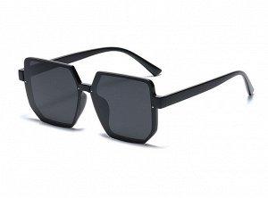 Женские солнцезащитные очки с поляризацией + защитный чехол, черная оправа, черные дужки