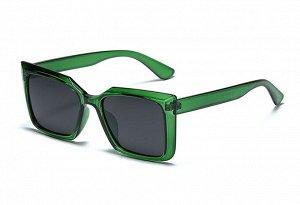 Женские солнцезащитные очки с поляризацией + защитный чехол, прозрачные зеленые оправа и дужки