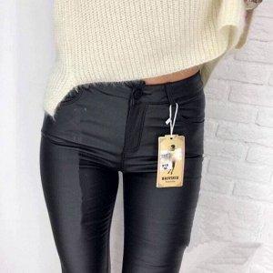 джинсы из эко кожи